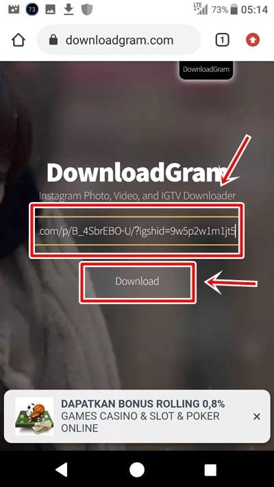 cara menyimpan video dari ig