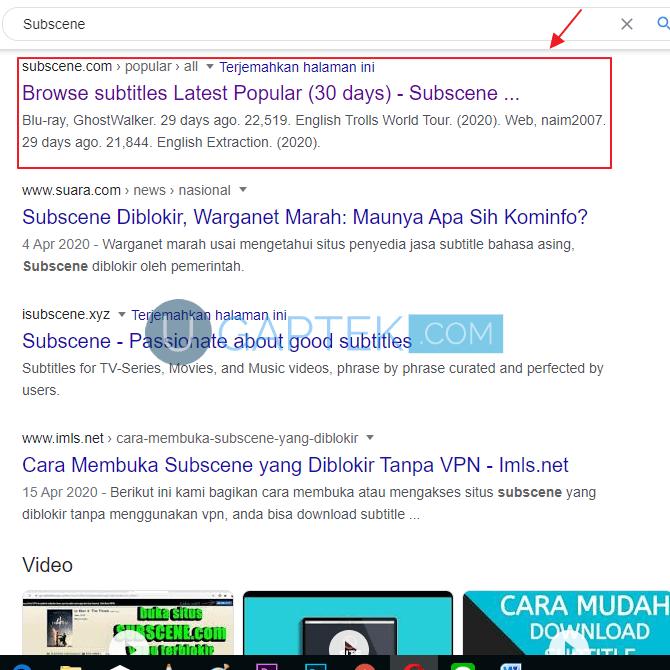 cara download subtitle indonesia terbaru