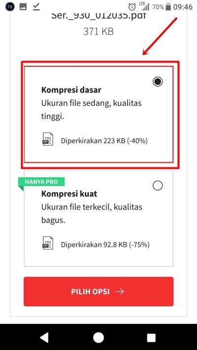 cara kompres file pdf lewat hp android dengan smallpdf